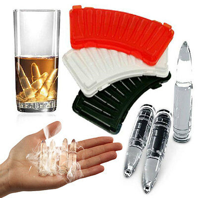 AK-47 Bullet Ice Cube Tray DIY Mold Chocolate Jelly Maker Mould Drink Party Bar