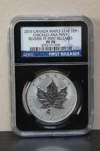 2015-Canada-Maple-Leaf-First-Releases-Chicago-Ana-Privy-Rev-PF-S-5-NGC-PF70