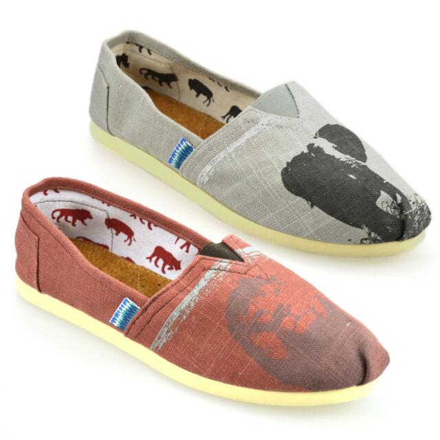 Mens Casual Leather Lined Canvas Espadrilles Plimsolls Trainers Pumps Shoes Size