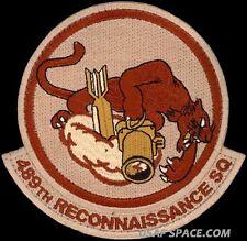 USAF 489th RECONNAISSANCE SQ - MC-12W - MQ-1 PREDATOR UAV DRONE ORIGINAL PATCH