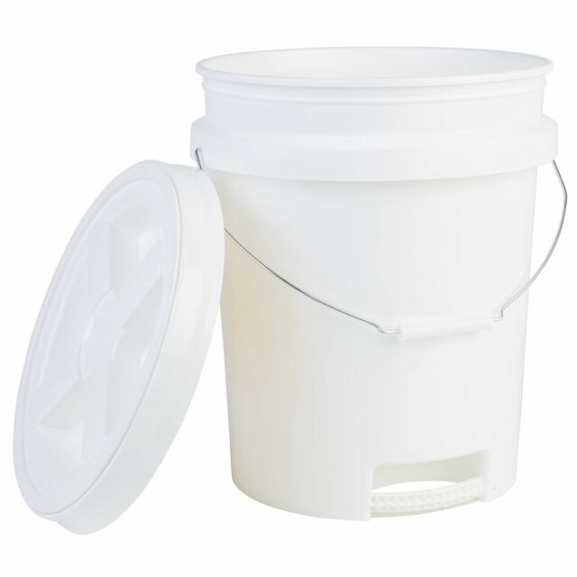 5 gal Yellow Hudson Exchange Premium 90 Mil HDPE Bucket with Handle