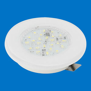 LED-Barco-Caravana-luz-2-75-034-72mm-empotrado-Plastico-Blanco-21-Cool-LEDs