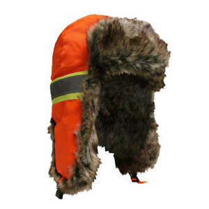 Jackfield 30-944 Orange Trapper Hat with High-Visibility Stripes
