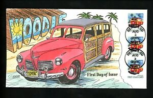 US-FDC-3522-Collins-HP-Hand-Painted-2001-Denver-CO-Woody-Station-Wagon-Car
