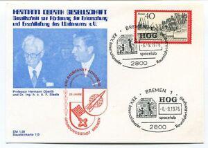 1976 Hermann Oberth Gesellschaft Weltraums Bremen 1 Hog Grundungsstadt Space Pour Revigorer Efficacement La Santé
