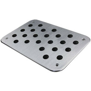 Aluminum-Alloy-Car-Floor-Mat-Carpet-Thick-Aluminiun-Heel-Plate-Pedal-30x20cm