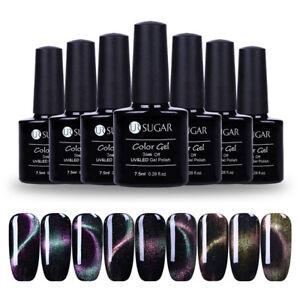 7-5ml-UR-SUGAR-Soak-Off-UV-Gellack-Cat-Eye-Holographisch-Chamaeleon-Gel-Nagellack