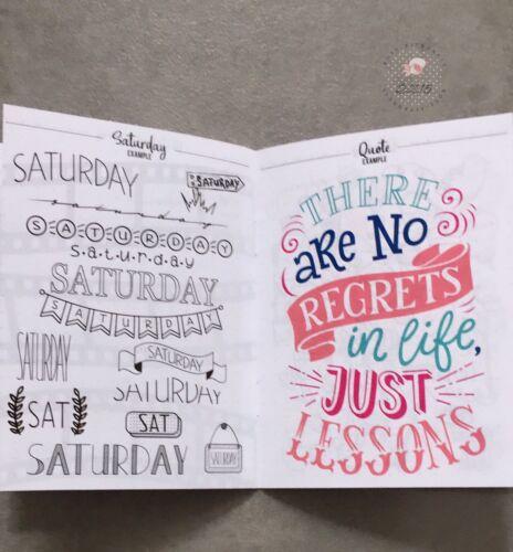 Bullet Journal Block Geschenkset Notizblock Buch Kalender Blume Jungle Malen Neu