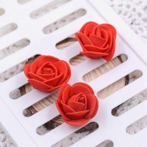 100pcs Mini Foam 3cm Roses Wedding Craft Flower Party Decor Favour Many Colours