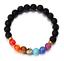 7-Chakra-Bracelet-Lava-Healing-Stones-Beaded-Gemstones-Beads-Elastic-Yoga thumbnail 16