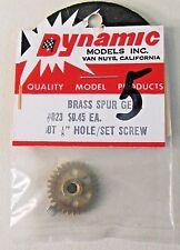 "1960's Dynamic 832 BRASS SPUR GEAR 30T 1/8"" Hole & set Screw 1:24 1:32 slot cars"