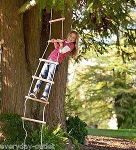 Rope Ladder Swing Set Climber Play Hang Climbing Outdoor Kids