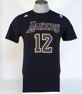 dd3b500bb Adidas NBA Lakers Howard 12 Black Short Sleeve Tee T Shirt Mens NWT ...