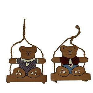 Vintage-Bear-Wall-Decor-Wooden-Childrens-Baby-Teddy-Bear-Nursery-Decor