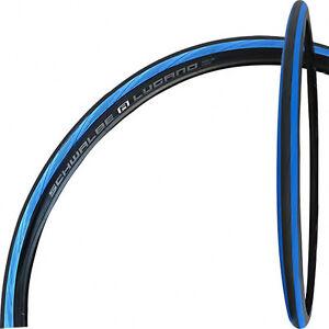 Schwalbe-Lugano-K-Guard-Draht-28x1-0Zoll-25-622mm-700x25C-Rennrad-schwarz-blau