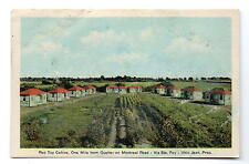 Quebec Canada Red Top Cabins Postcard 1930s