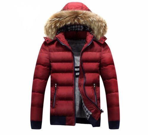 PUFF OUTWEAR COAT JACKET PADDED THICK MEN BOYS WINTER YELLOW TAN BLUE RED FUR UK
