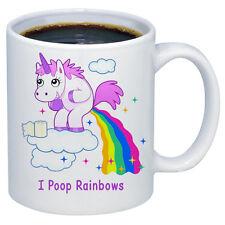 Unicorn I Poop Rainbow's Pooping Rainbow's Funny Coffee Mug 11oz Free Shipping