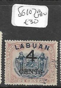 LABUAN (PP0204B) 4C/24C ARMS, LION SG 107B VFU