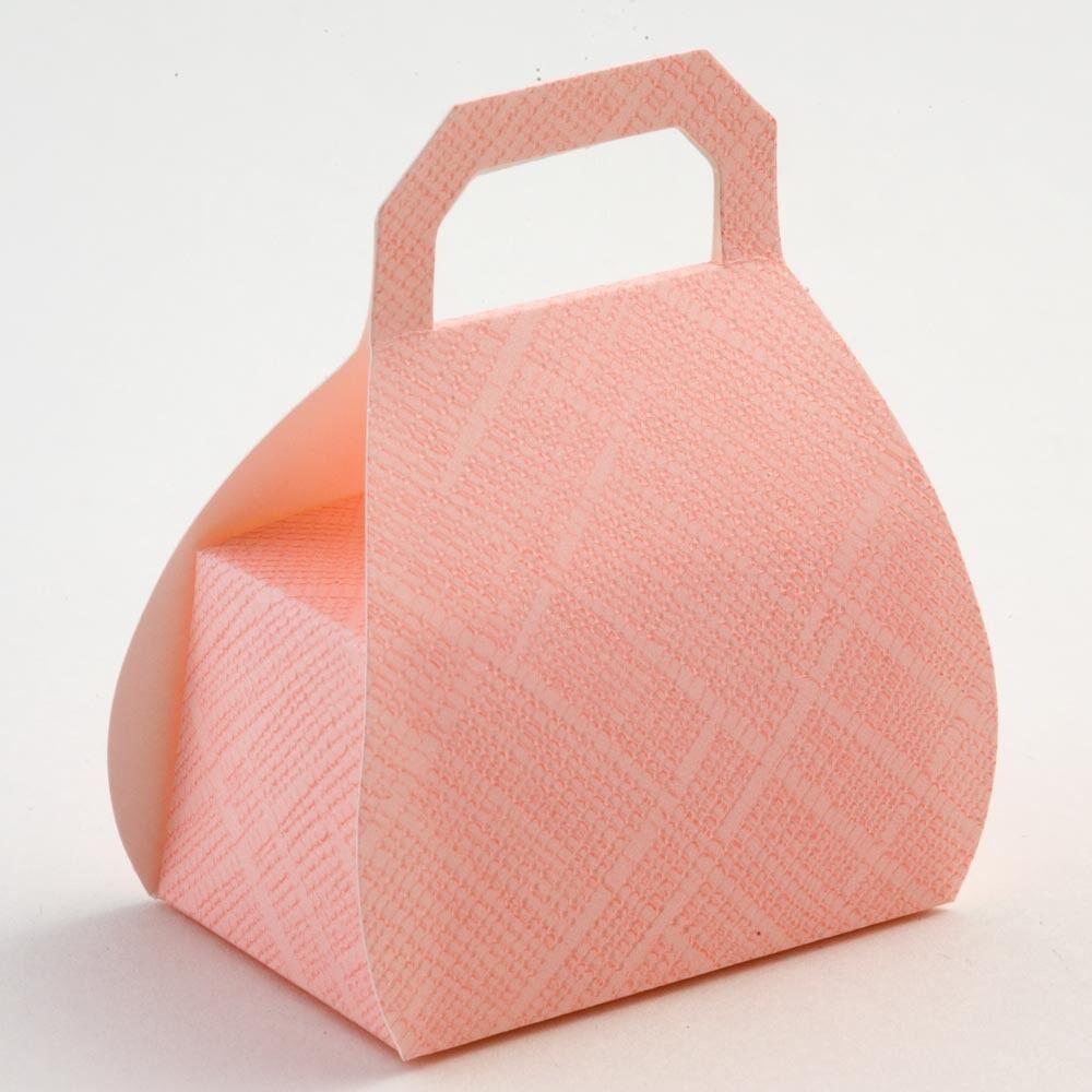 rosa con trama Borsetta Matrimonio Di Fai da Te Scatole Di Matrimonio Favore Partito Box 3bd8b1