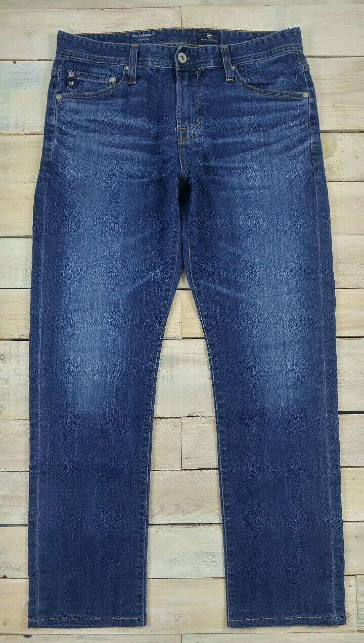 AG ADRIANO goldSCHMIED The Graduate Tailored Leg bluee Jeans Size 30x29.5