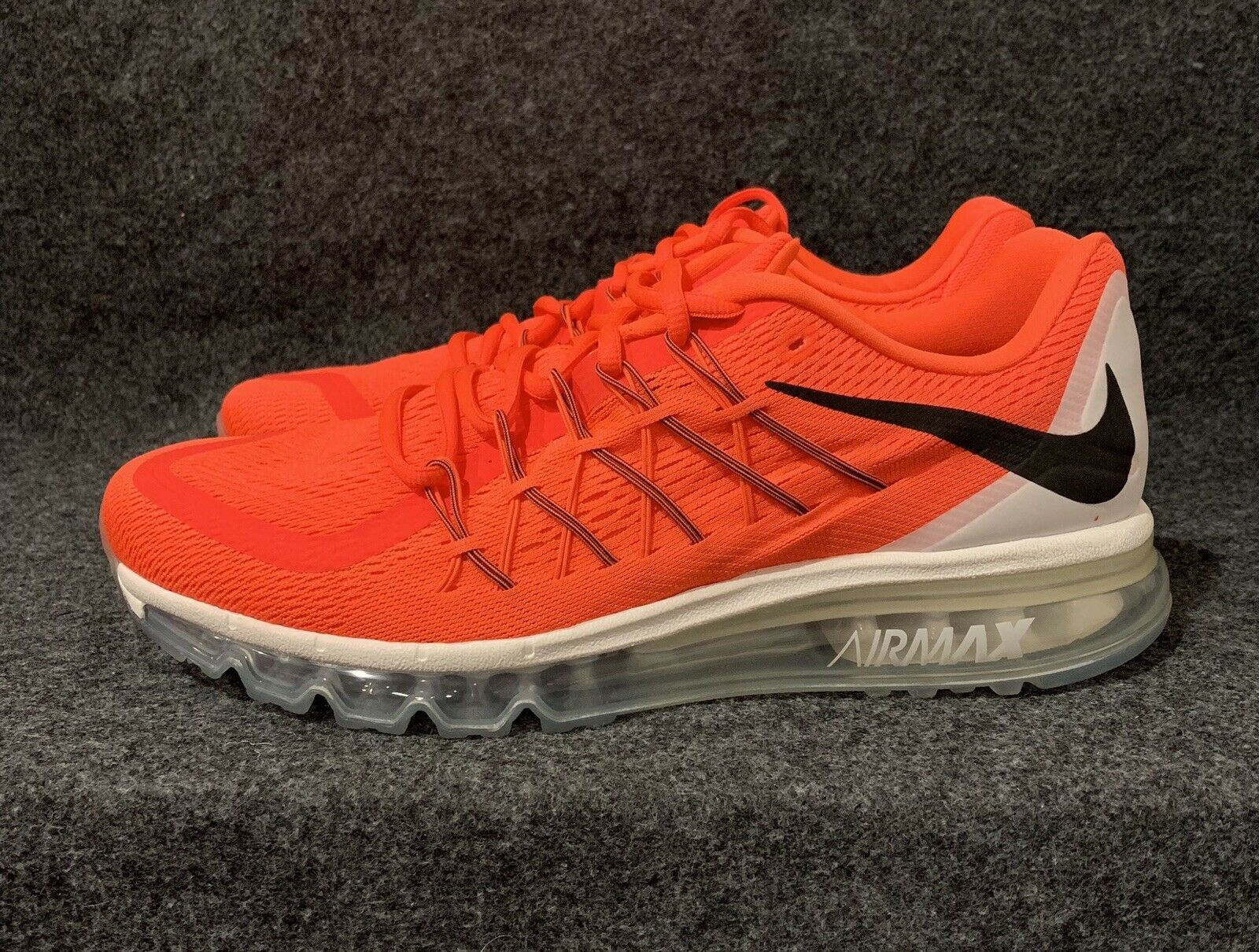 Nike Air Max 2015 Mens Running Trainers Shoes Bright Crimson Aus 11