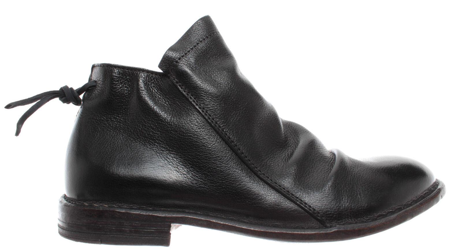 MOMA shoes Femme Bottines 48903-0A Bufalo black Cuir black Vintage Vintage Vintage Nouveau a2a961