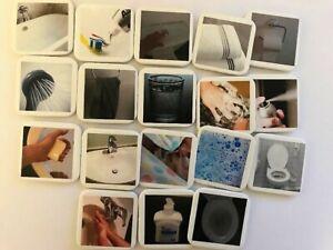 Bain Toilette Lavage Routine Du Matin Photo Visuel Symbole Set Autisme Tdah Calendrier-afficher Le Titre D'origine