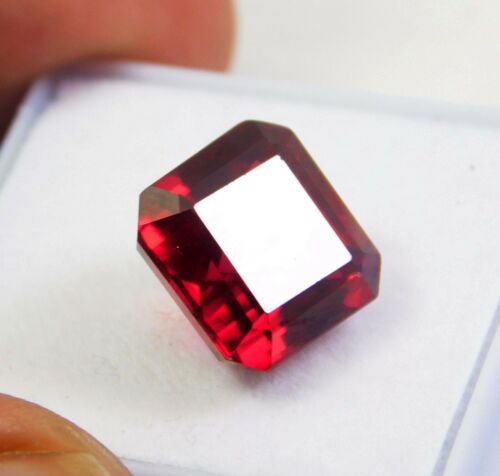 9.30CT Certified EMERALD CUT AFRICAN BLOOD RED RUBY LOOSE GEMSTONE 3875