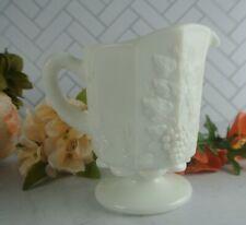 Vase 5 inch Jardiniere Westmoreland Milk Glass Paneled Grape Jardiniere Planter Footed