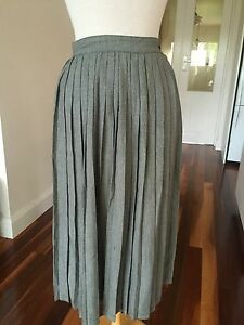 Sussan-Black-amp-White-Checked-Retro-Pleated-Skirt-Size-8