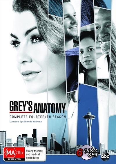 Grey's Anatomy : Season 14 (DVD, 2018, 6-Disc Set)