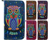Kukubird Spotty Tribal Owl Pattern Large & Medium Ladies Purse  Wallet FREE P&P