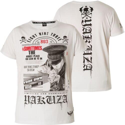 YAKUZA Own Head T-Shirt TSB-14046 White Weiß T-Shirts