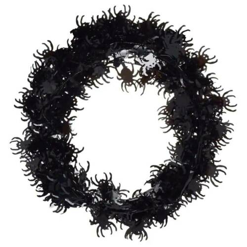 "Spider Wire Garland Strand 1/"" Black Spiders 25 ft"