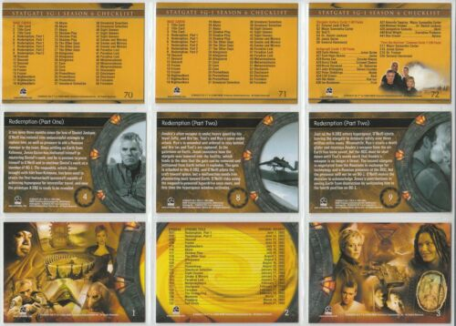 Six Rittenhouse 2004 - 72 Card Basic//Base Set Stargate SG-1 Season 6