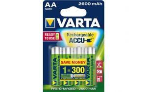 Blister-4-Piles-Rechargeables-2600mAh-AA-Stylet-NiMH-Varta-HR6-1-2-V