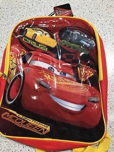 461a226171e 2199 DISNEY PIXAR CARS LIGHTNING MCQUEEN CRUZ KIDS BACKPACK RED W ...