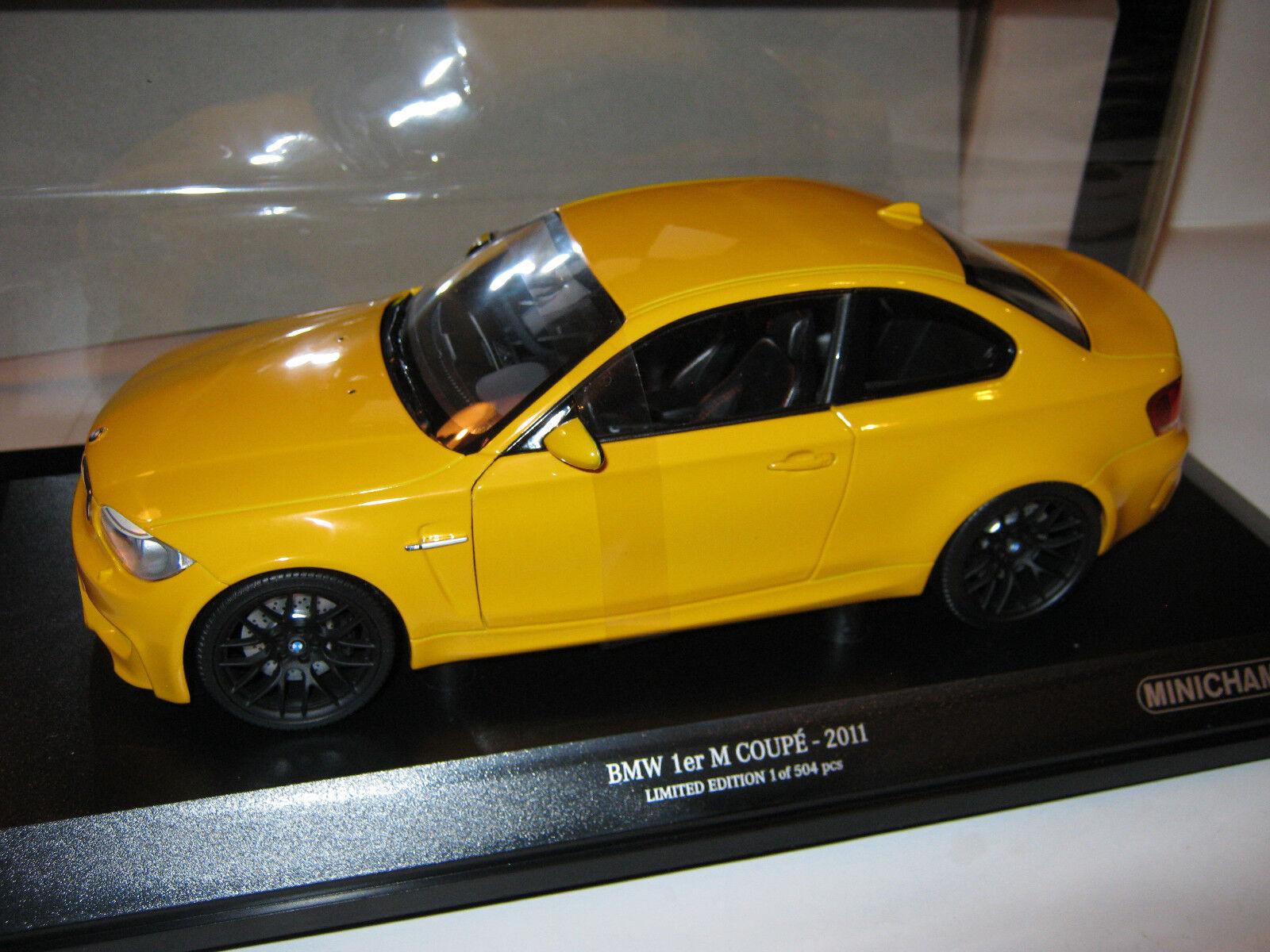 18 bmw 1 m coupé gelb 2011 1 504 minichamps 110020026 ovp neue
