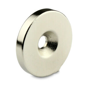 N50-Strong-Disc-Ring-Magnet-30mm-x-5mm-Countersunk-Hole-5mm-Rare-Earth-Neodymium