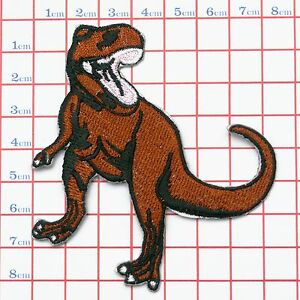 T-REX-DINOSAUR-Embroidered-Iron-On-Sew-On-Logo-Patch-NEW-Jeans-Jacket-Hat