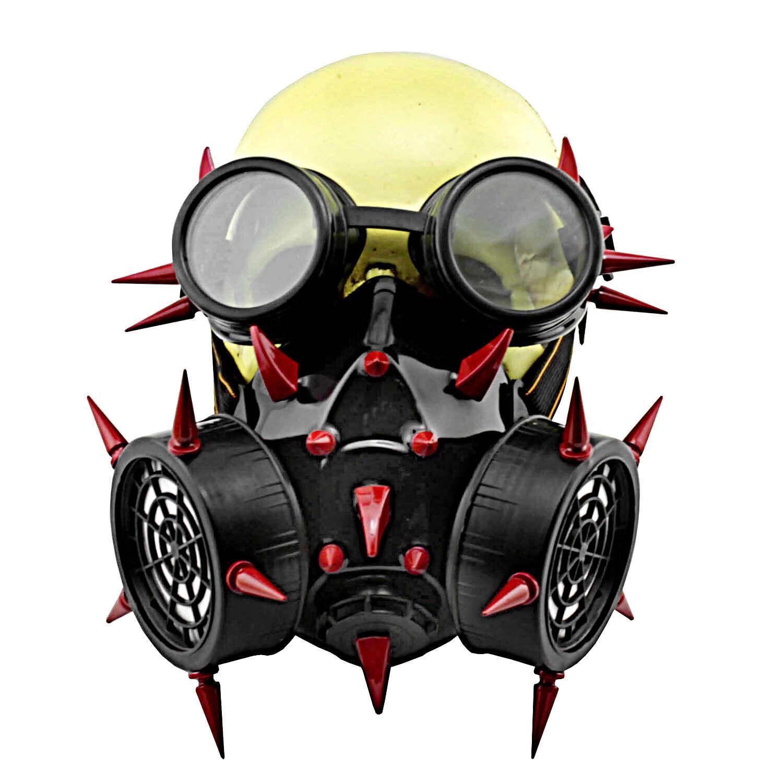 Steampunk Gothic Punk Rivet Cosplay Face Mask Respirator Halloween Accessories