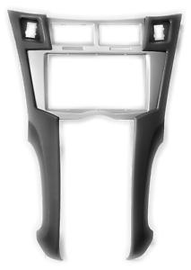 CARAV 11-100 Autoradio Radioblende für TOYOTA Yaris Vitz Doppel-DIN silber