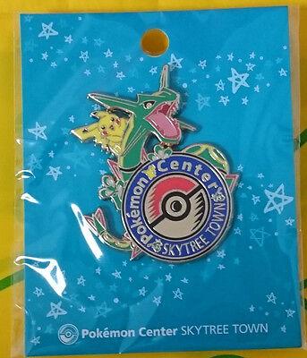 Pikachu Logo Pins Pin Limited Rayquaza poncho Sky Tree Town Pokemon center