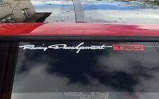 TOYOTA TRD Bianco & Rosso Sunstrip Parabrezza Grande Auto Adesivo Vinile solo logo * *