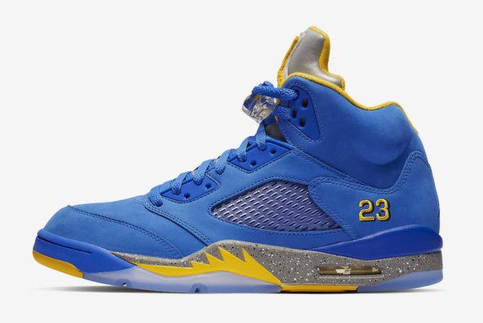 Nike Air Jordan Retro 5 V Laney JSP Varsity Royal bluee Maize Yellow CD2720-400