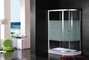 box doccia con piatto doccia vetro serigrafato cabina 120x80x195 ... - Arredo Bagno Box Doccia