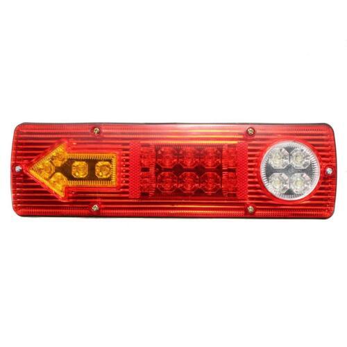 12V Pair of Trailer Tail Light Truck Trailer Rear LED Tail Brake Stop Turn Light