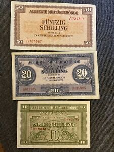 Ticket-lot-10-20-and-50-schilling-allies-Austria-sup-new