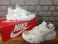 Nike Ladies All White Huarache Trainers Silver Toe Box Running Uk 3-6